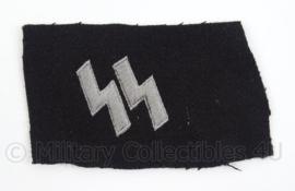 WO2 Duitse Waffen SS kraagspiegel runen enkel - uitknippen of omvouwen - afmeting 10 x 6 cm - replica