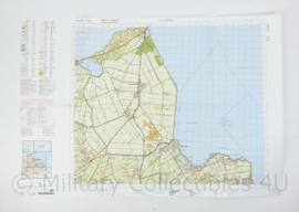 Defensie stafkaart 14 Oost Medemblik M733 - schaal 1 : 50.000 -57 x 83 cm - origineel