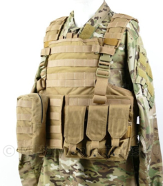 Defensie Profile Equipment Coyote plate carrier inclusief Kogelwerende platen personal body armour NIJ III en tassen - origineel