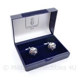 Korps Rijkspolitie manchetknopen paar in doosje - 2 x 1,5 cm - origineel