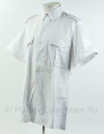 KM Koninklijke Marine Tropenwit overhemd dikke variant tenue 16, 'badman' - korte mouw - maat 41 - licht gedragen - origineel