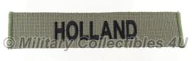 Naamlint 'HOLLAND' grijs/zwart - origineel