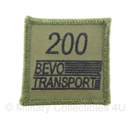 KL borst embleem 200 BEVO transport met klittenband - 5 x 5 cm - origineel