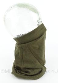 KL Nederlandse leger Defensie colsjaal groen - gedragen - maker Dutraco - origineel