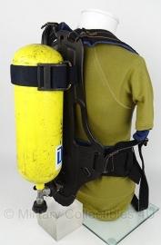 Brandweer merk Dräger harnas MET fles en MET BODYGUARD - origineel
