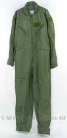 US Groen Air Force Piloten overall Coveralls Flyers CWU 27/P - maat 42 reg (nl maat 52)of 40 long (50 lang)  - origineel US