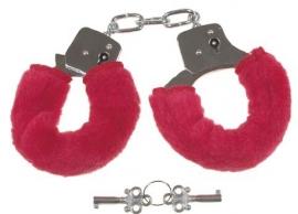 Handboeien - met rode hoesjes