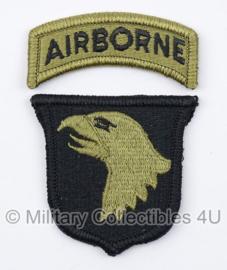US Army OCP SSI patch met tab - 101st Airborne Division - met klittenband - voor multicamo uniform - origineel