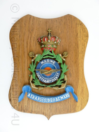 Wandbord Koninklijke Marine Luchtvaartdienst - 27 x 19 x 1 cm - origineel