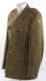 """KL Koninklijke Landmacht DT officiers uniform jas met embroidered insignes """"menno van Coehoorn"""" - 1955 - maat 50 - origineel"""