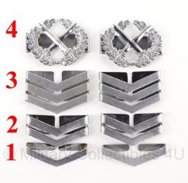 Korps Rijkspolitie schouder rangen zilver - metaal - per paar - origineel