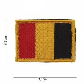 Uniform landsvlag België met klittenband stof - 5,2 x 7,4 cm.