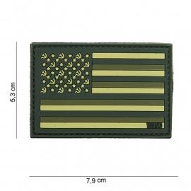 "Uniform landsvlag Rusland embleem ""US vlag model"" 3D PVC vlag  -  klittenband - 7,9 x 5,3  cm"
