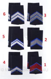 KMAR Koninklijke Marechaussee schouder epauletten modern Zwart - prijs per paar - origineel