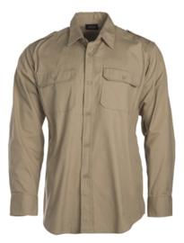 Overhemd khaki katoen hbt ripstop - lange mouw