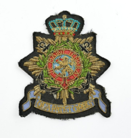 Korps Mariniers Qua Patet Orbis luxe metaaldraad versie embleem - 10 x 8,5 cm - origineel