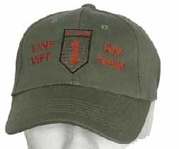 "Baseball cap - US vietnam oorlog First Infantry Division ""Big Red One"""