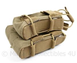 Nederlands leger en Korps Mariniers Glock 17 en Diemaco C7 dubbele magazijntas Coyote  - 11 x 8 x 6 cm - nieuw - origineel
