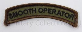 KL Landmacht straatnaam Smooth Operator - met klittenband - afmeting 8 x 3 cm - origineel