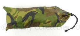 KL Landmacht nieuw model woodland zeil shelter 1 pax noodonderkomen - ongebruikt - afmeting zeil 160 x 243 cm - origineel