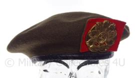"""KL Koninklijke Landmacht baret met insigne """"oranje gelderland"""" - vorig model 1995 - maat 57 - origineel"""