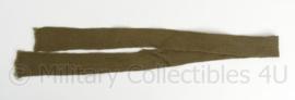 Belgische ABL leger antieke stropdas groen 1974 - 112 cm - origineel