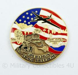 Zeldzame coin Operation Iraqi Freedom - genummerde versie - diameter 4,5 cm - origineel