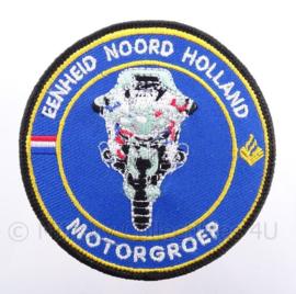 "Politie Motorgroep ""eenheid Noord Holland"" embleem - met klittenband - diameter 9 cm"