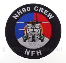 """KLu Koninklijke Luchtmacht NH90 Crew embleem """"NFH"""" -  met klittenband - diameter 10 cm"""