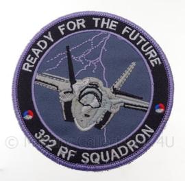 "KLu Koninklijke Luchtmacht 322 RF Squadron ""ready for the future"" -  met klittenband - diameter 10 cm"