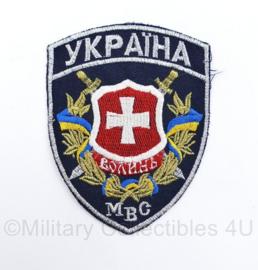 Oekraïens politie embleem MBC - 12,5 x 9,5 cm - origineel
