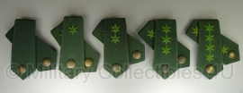 Bundespolizei ranget set - groen met groene ster - origineel
