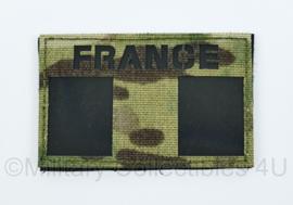 Franse leger infrarood patch - met klittenband - FRANCE - 5 x 8 cm