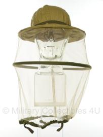 WO2 US Army mosquito hat KHAKI hoofddeksel met muggennet - origineel WO2