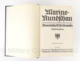 Marine Rundschau Jahrgang 1933 - origineel