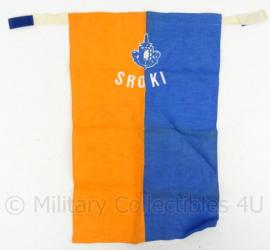 KL Landmacht halsdoek SROKI School Reserve Officieren Kader Infanterie - 28,5 x 44,5 cm  - origineel