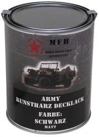 Verf literblik - Army Black mat RAL9021