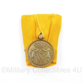 Defensie Trouwe Dienst medaille  Wilhelmina - huidig model - 27 mm - origineel