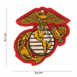USMC US Marine Corps patch  - stof - 8,4 x 8,4 cm.