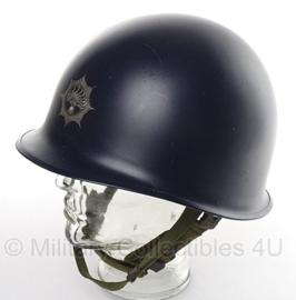 M1 helm (binnen + buitenhelm) Korps Rijkspolitie blauw - met logo - origineel
