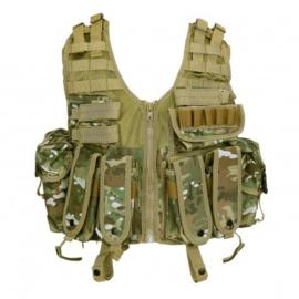 Tactical modulair gevechtsvest - MOLLE - INCLUSIEF tassen - Multicamo