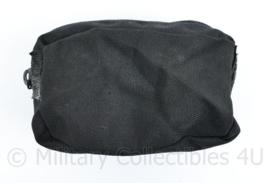 Defensie zwarte borst opbouwtas met rits - 9,5 x 15,5 x 5 cm - origineel