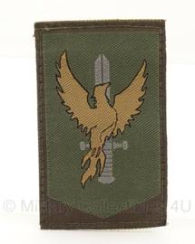 KL Nederlandse leger eenheid arm embleem Operationeel Ondersteunings Commando Land 8 x 5,5 cm. - met klittenband - origineel