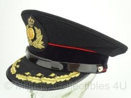 Nederlands leger Ceremonieel Tenue platte pet hoofdofficier - zwart met rode bies - maat 58 cm - origineel