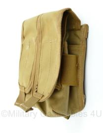 KL Nederlandse leger en Korps Mariniers MOLLE dubbele Diemaco magazijntas - Profile Equipment - Coyote - 17 x 17 x 4 cm - origineel