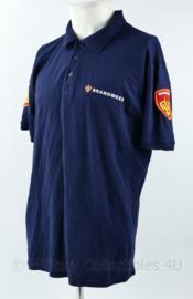 Brandweer polo blauw  - maat Large - huidig model - origineel