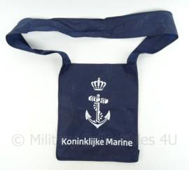 KM Marine blauwe draagtas - afmeting 29,5 x 35,5 cm - origineel