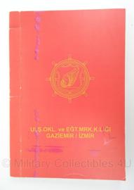 Turkse leger notitieboek Uls.Okl. ve EGT. MRK.K.Ligi. Gaziemir/Izmir- 15 x 22 cm - origineel