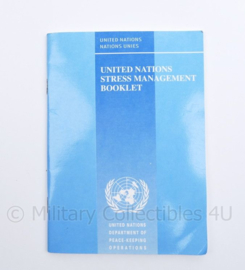 United Nations Stress management booklet - 16,5 x 12 cm - origineel