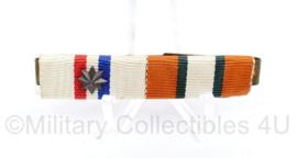 Defensie medaillebalk met 2 onderscheidingen - 6 x 1 cm - origineel